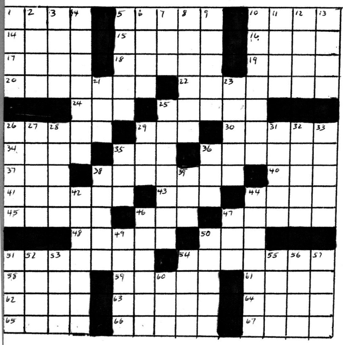 Crossword Puzzle By Bob Lee January 2012 The Quiviran