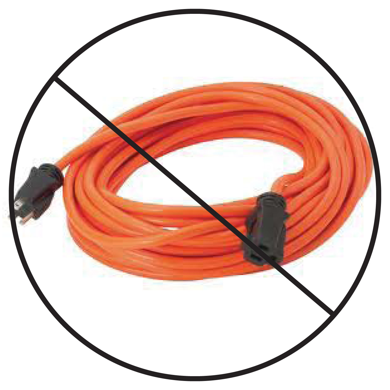 No Extension Cords : Electrical cord clipart imgkid the image kid