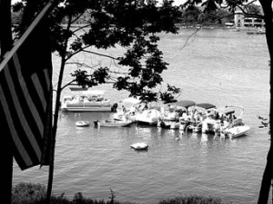 Fred Gilhousen took this shot from his Kaw Lane East deck on Sunday, August 31, when as many as 50 people at a time enjoyed the water below during their  Memorial Day staycation.