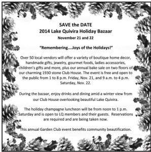LQ Holiday Bazaar – save the date