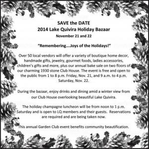 Lake Quivira Holiday Bazaar Open to the Public