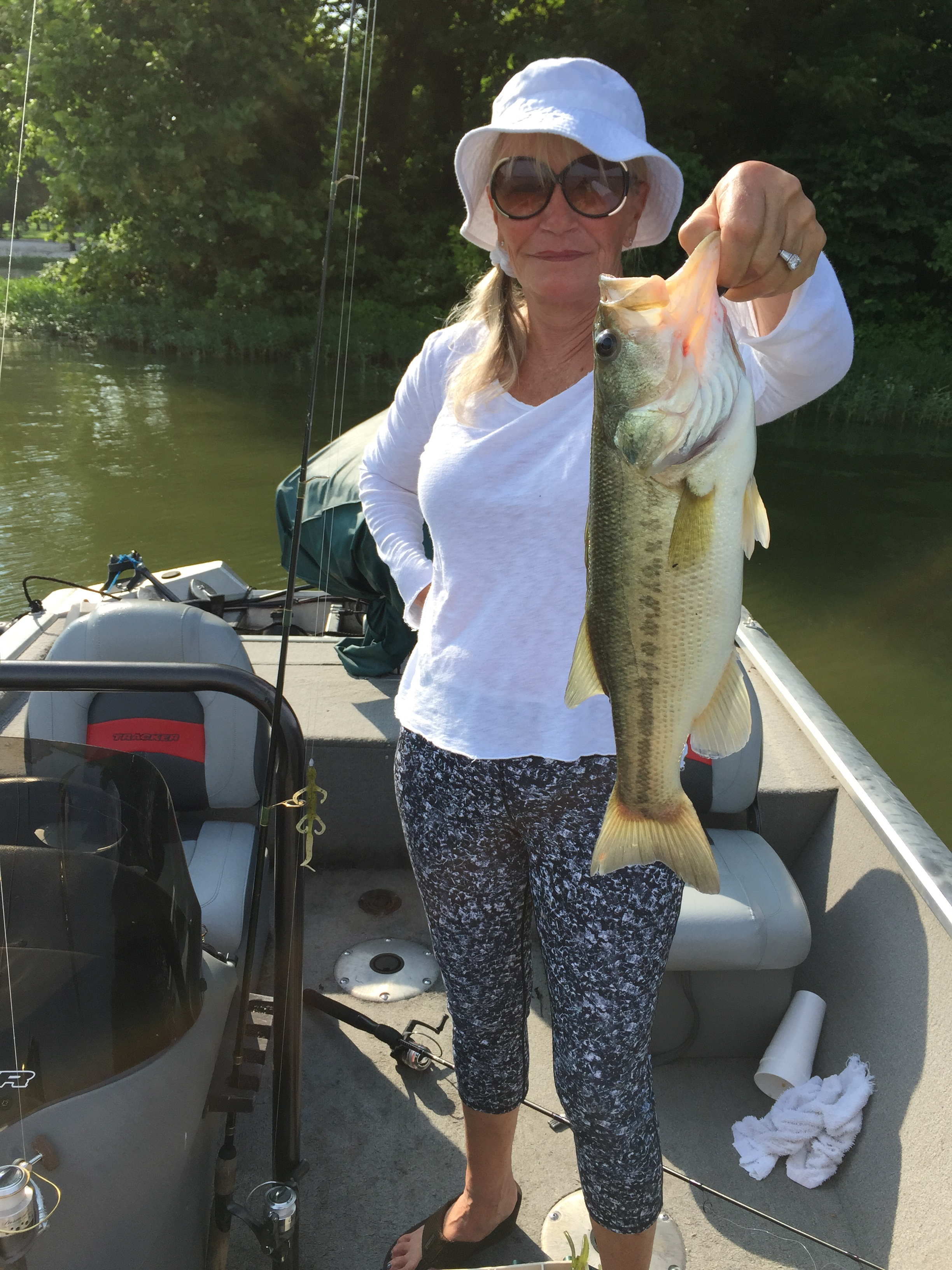 Big fish stories abound here are photos to back them up for Big bass fishing