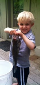 Three year old Miles Bartels