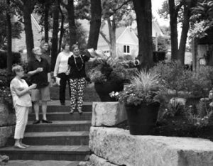 Garden Club members on a garden tour.