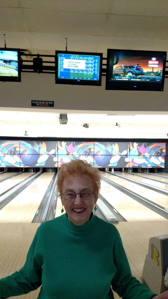 On March 8 Helen Steffey had four strikes in a row, for a  score of 216, at the LQ Women's Bowling League. By Teresa Redlingshafer