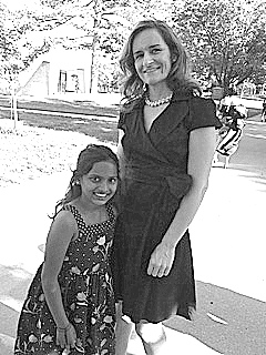 Alison Phillips with her daughter, Sonum, whose adoption from India  provided the impetus to Alison's seeking a degree in criminal justice.