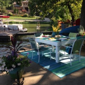 Amanda and Curtis Frazier's dock