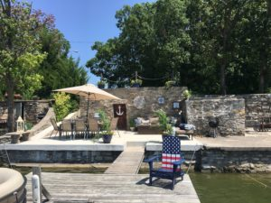 Bridget and Mark Pereira's dock