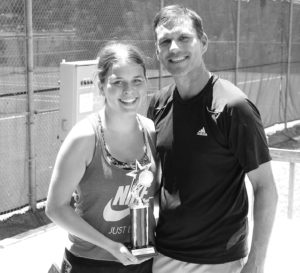 0817 tennis 2nd place 13 and over Kate and Kevin Kowalik bw sized