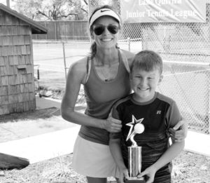 0817 tennis 2nd place- Elliott Coulson and Shelley Sneed 12 and under bw sized