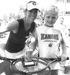 0817 tennis 3rd Place - Bennett Taylor and Christi Metivier 10 and under bw sized