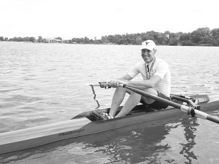 Bob Borberg of Lake Quivira, winner of the Men's Rowing Masters National Championship.