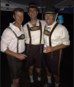1117 Mark Pereria, Joe Walsh and Mike Olson under the tent.