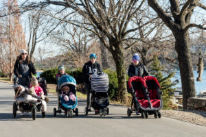 1217 four moms with strollers by leon