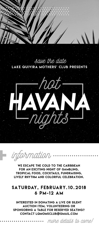 1217 mothers club ad Hot Havana Nights-1 bw sized