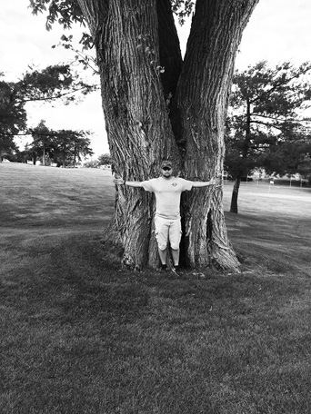 This Kansas Champion American Elm tree lies to the right side of Fairway #9