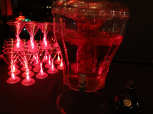 Raspberry martinis were served in red lighted martini glasses. Photo by Lisa Phlegar