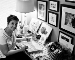 Mary Linda Boling in her conveniently located home studio near the heart of the house. (Photo by Landy Boling)