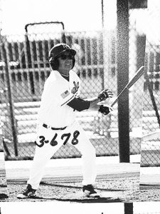 Dave White at play and hitting it out of the Royals ballpark in sunny Sunrise, Arizona.