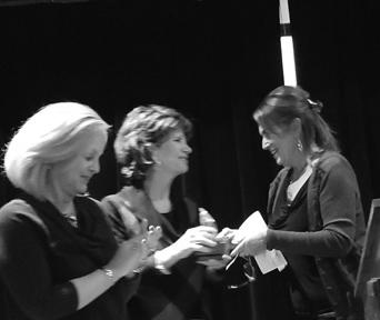 Mary Ann White, (center) Spirit of Quivira Award winner