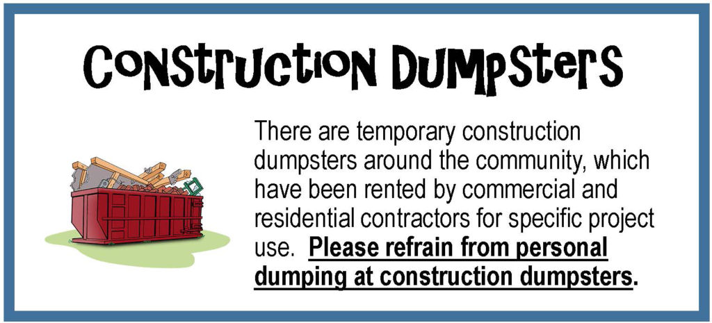 0619 qinc Construction Dumpsters