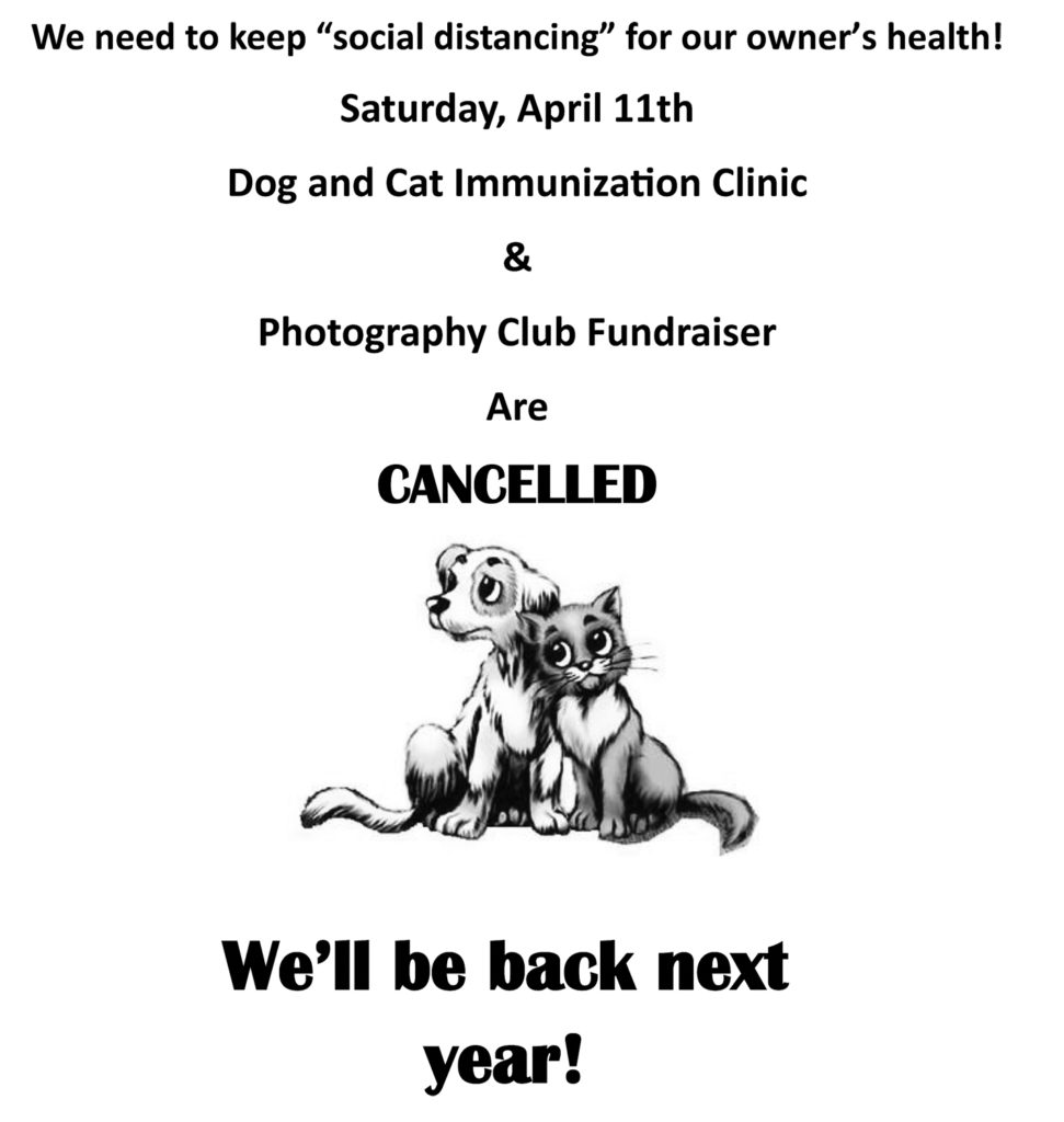 0420 dog and cat vacs cancelled